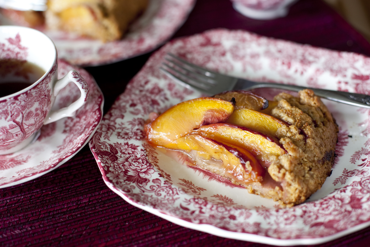Whole Wheat Plum Nectarine Tart