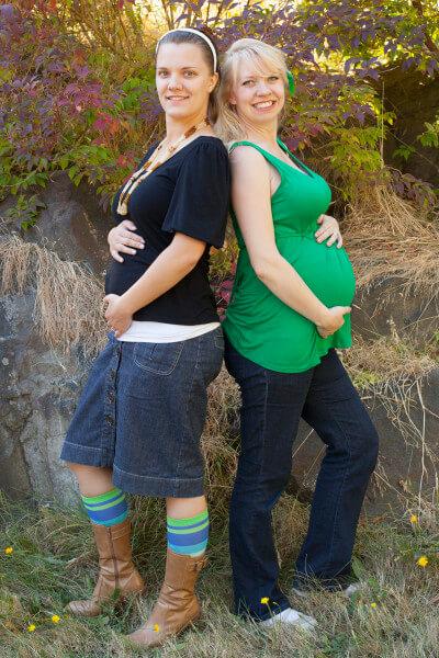 diana-heather-baby-bumps