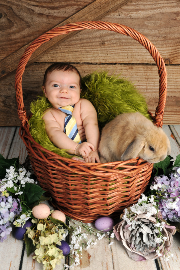Baby-with-bunny-spring-photo-shoot