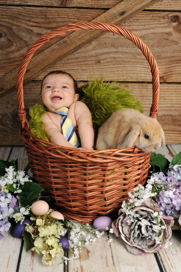 Laughing-Baby-with bunny