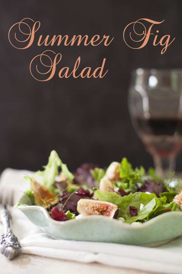 A healthy summer salad with fresh figs - EatingRichly.com