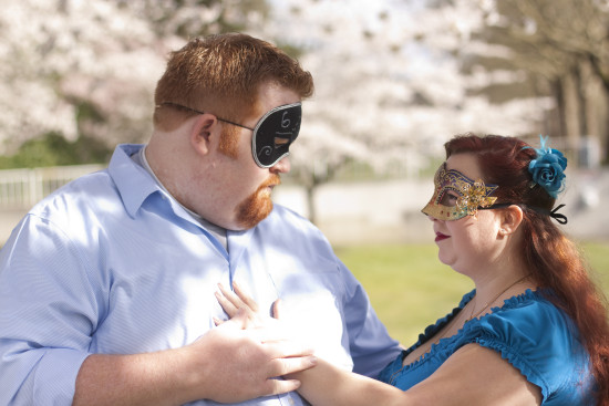 Masquerade Engagement Photo Shoot - EatingRichly.com
