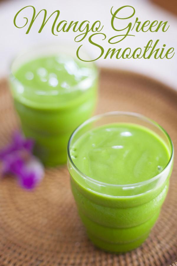 Green Mango Smoothie Recipe. Healthy, vegan, and tropical! - EatingRichly.com