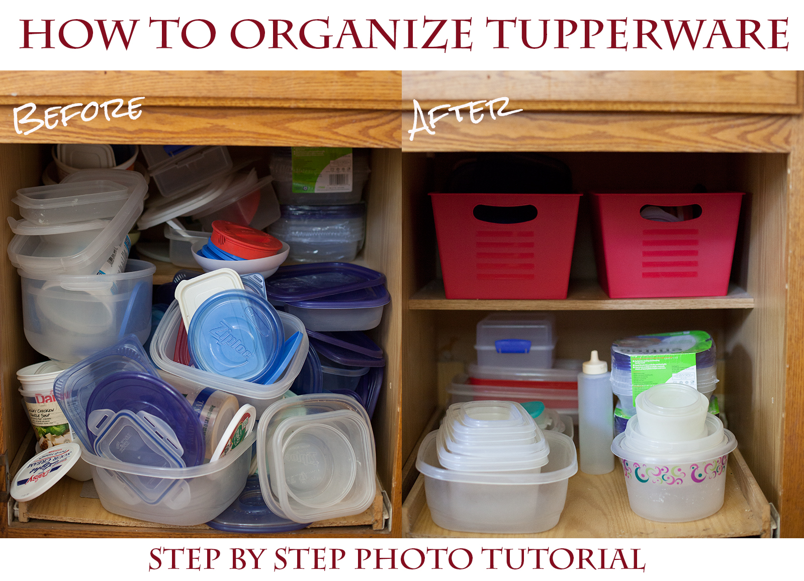 How to Organize Your Tupperware Cupboard for a Couple Bucks (5 easy Steps!)