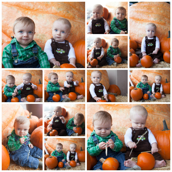 Babies with Pumpkins Fall Photo Shoot | EatingRichly.com