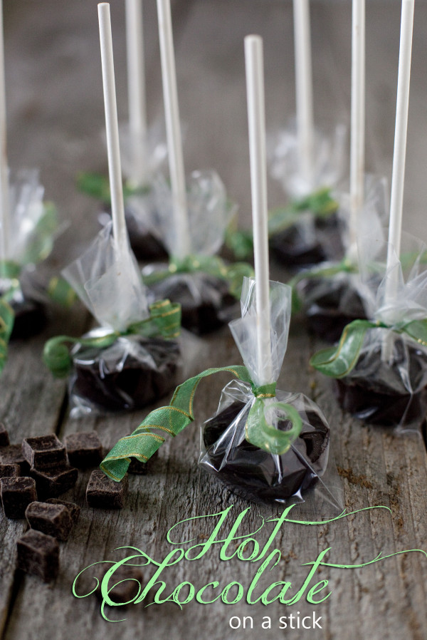 Hot Chocolate on a Stick. Fast & easy edible gift perfect for Halloween, Christmas, or Valentines. Vegan adaptable!   EatingRichly.com