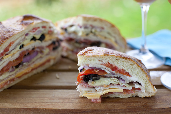GIANT sandwich that is meant to be squished. Perfect for back packing, or beach trips. | EatingRichly.com