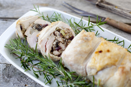 cranberry mushroom stuffed turkey breast