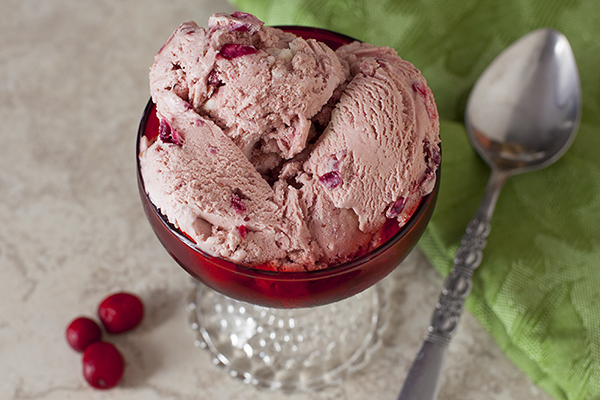 Cranberry Cheesecake Ice Cream Recipe | EatingRichly.com