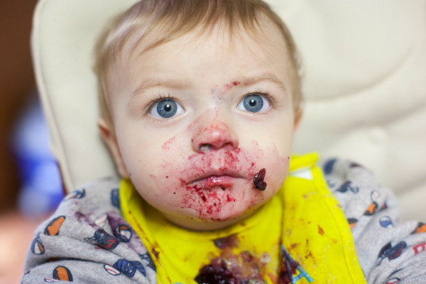 Baby led weaning, blueberries | EatingRichly.com