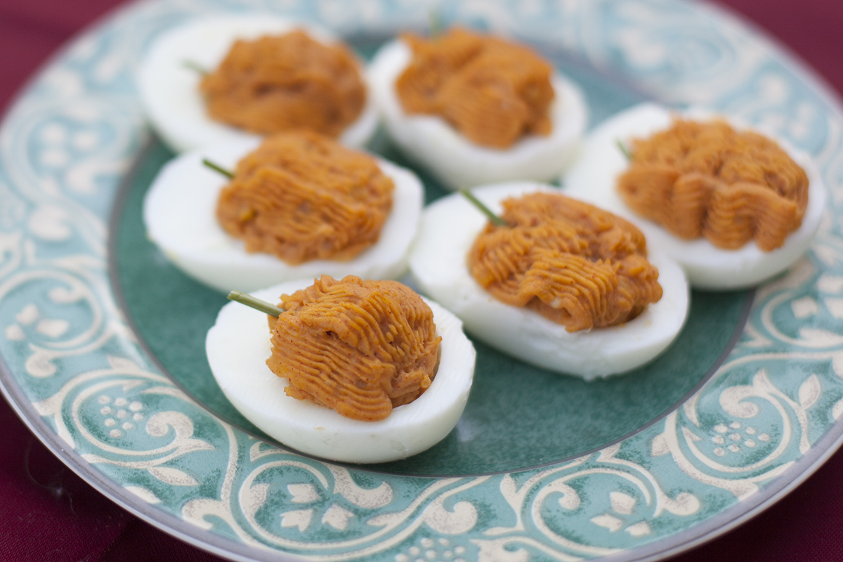 Deviled Egg Pumpkins Recipe