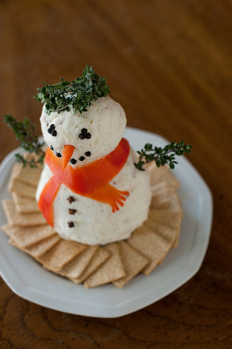 Christmas Cheeseball Snowman Recipe and Baby Corbans Christmas