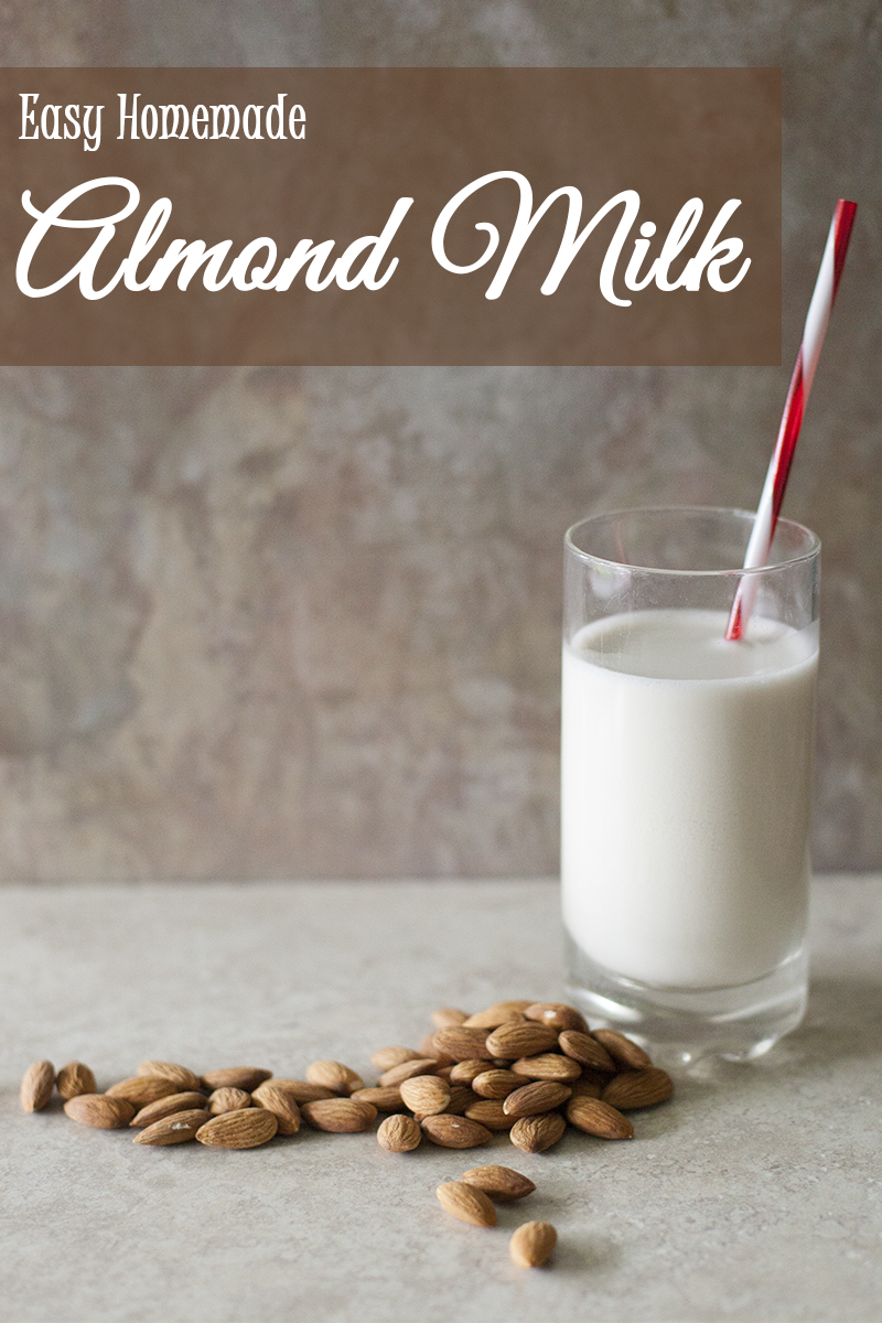 Easy step by step photo tutorial on how to make homemade almond milk in juicer or blender from EatinRichly.com
