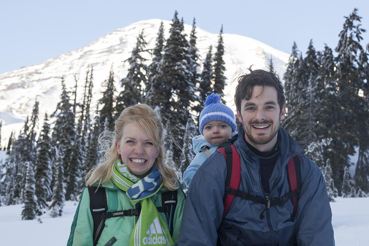 Christmas Snowshoe Trip Mt. Rainier Video