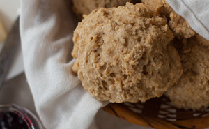 These whole wheat drop biscuits are healthy, fast, and simple. EatingRichly.com