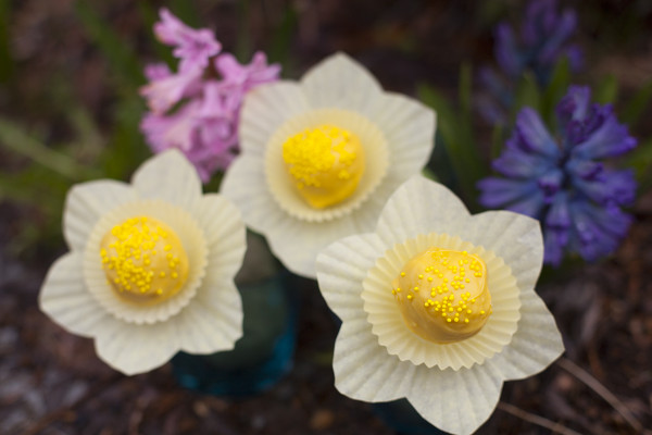 Daffodil cake pops tutorial - EatingRichly.com
