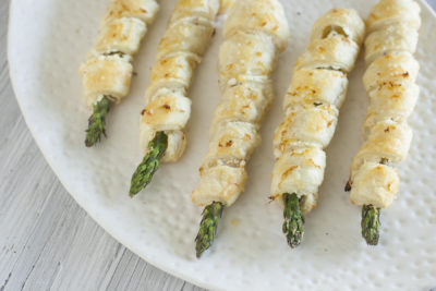 Lemon Garlic Goat Cheese Asparagus Puffs for Easter - EatingRichly.com