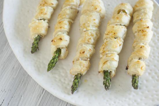 Lemon Garlic Goat Cheese Asparagus Puffs for Easter - EatingRichly.com
