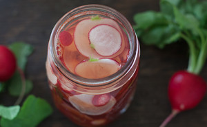 The best pickled radish recipe, a quick pickle so you can eat it right away! From EatingRichly.com