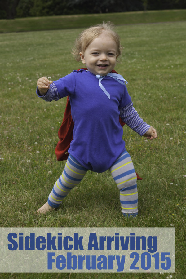 Cute Superhero big brother baby announcement EatingRichly.com