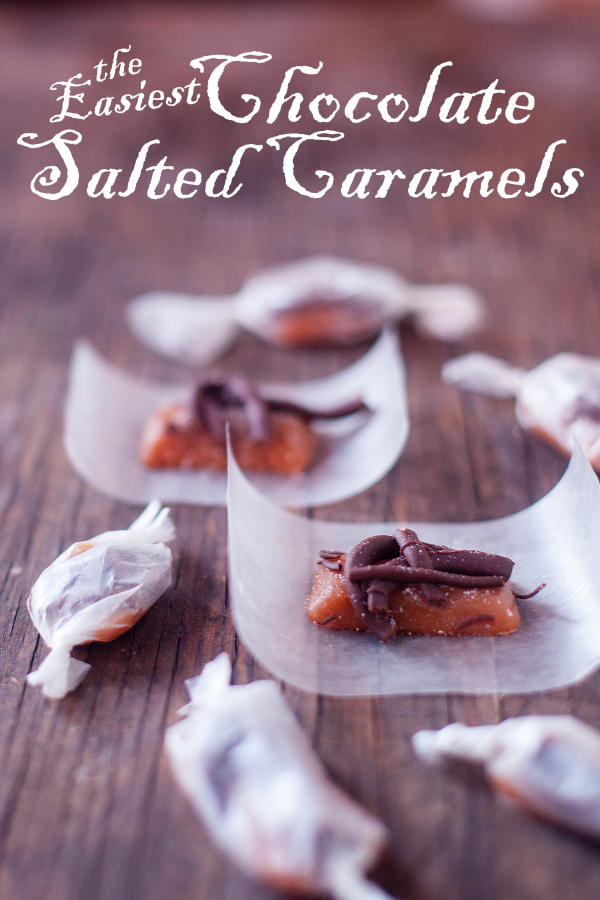 The easiest chocolate salted caramels