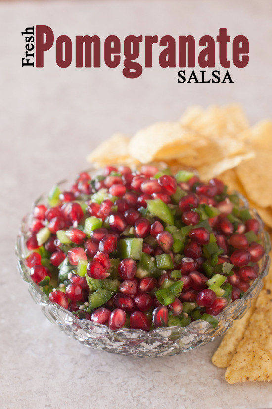 This fresh pomegranate salsa recipe is tasty any time of year, but it's especially fun for Christmas parties with it's beautiful bright red and green colors. From EatingRichly.com