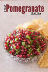 This fresh pomegranate salsa is festive and fun in red and green Christmas colors. | EatingRichly.com