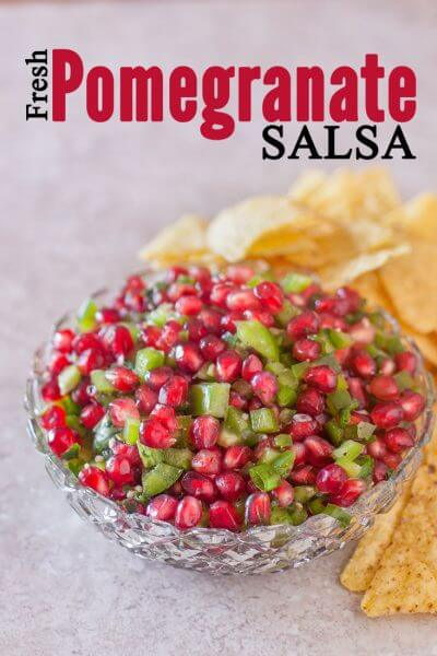 Christmas Pomegranate Salsa Recipe and the easiest way to open a pomegranate