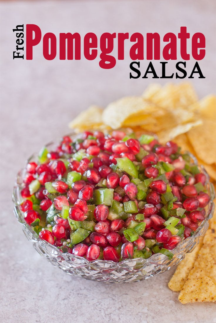 this fresh pomegranate salsa recipe is always tasty but its especially fun for christmas parties
