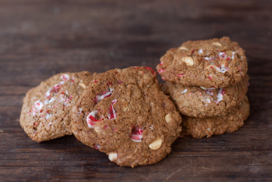 Whole Wheat Peppermint White Chocolate Chip Cookies Recipe for healthy holiday baking | EatingRichly.com