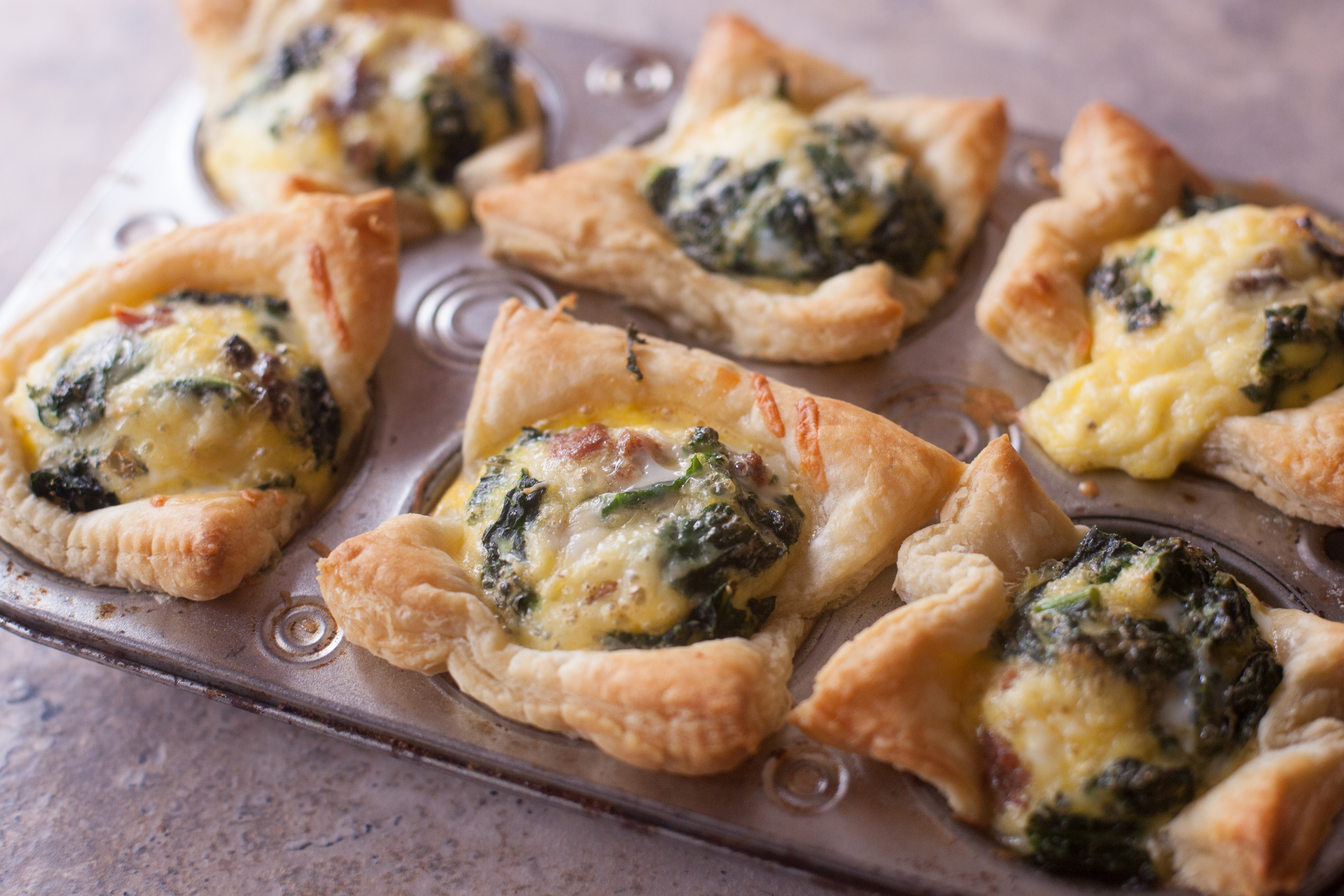 Bacon and Kale Quiche Muffins Recipe with Kerrygold Sweet Cheddar