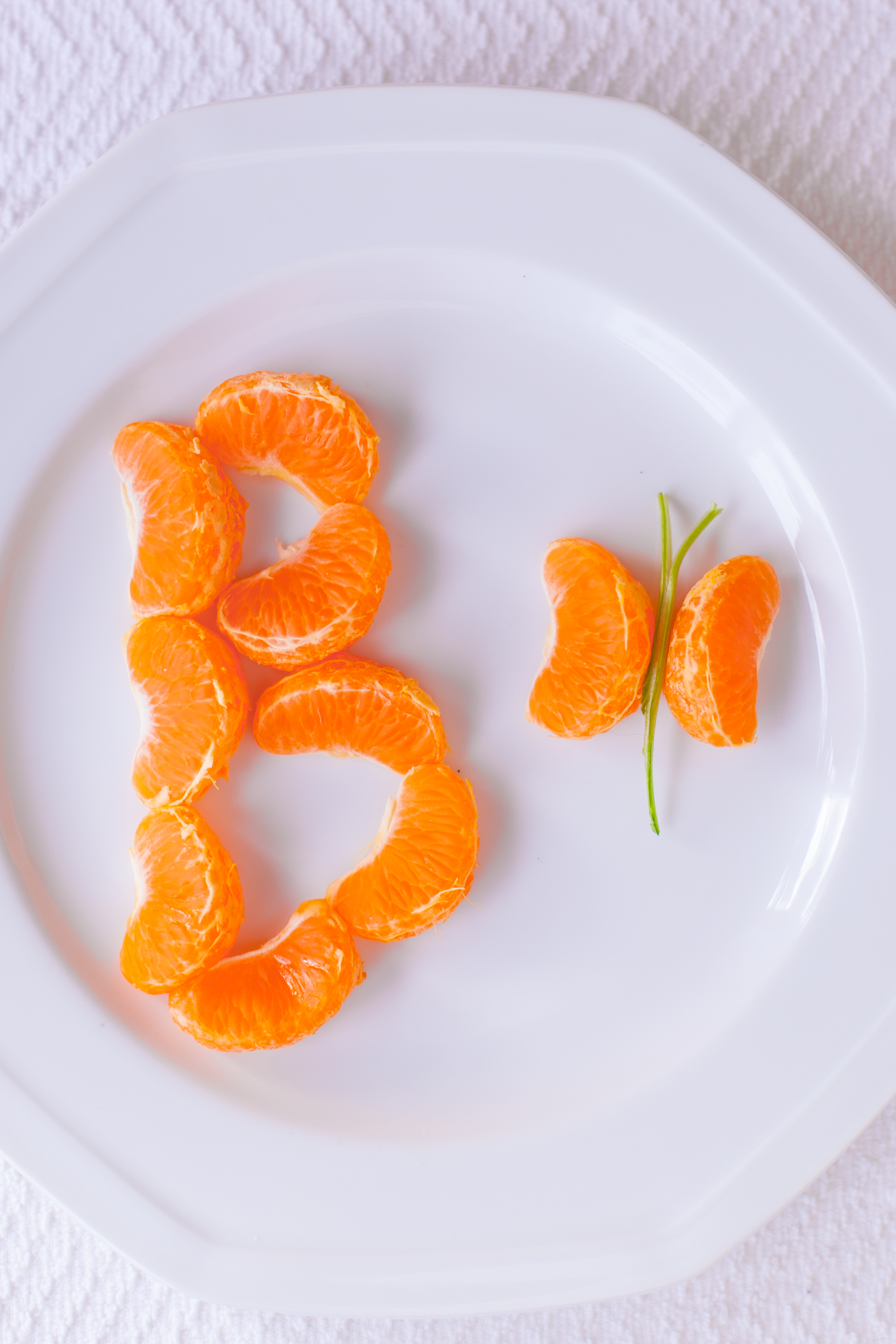 Healthy Kid Snack Tangerine Butterfly