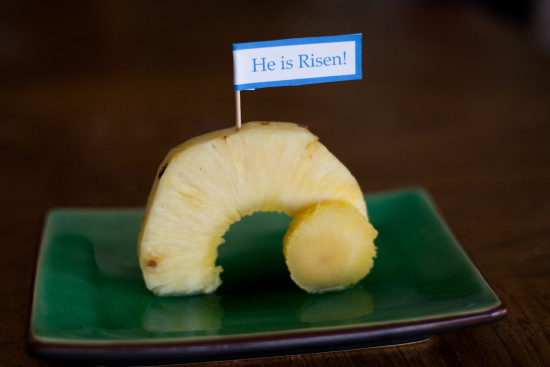 Empty Tomb Pineapple a healthy Easter snack from EatingRichly.com