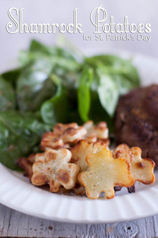 Oven Roasted Shamrock Potatoes St Patricks Day side dish recipe EatingRichly.com