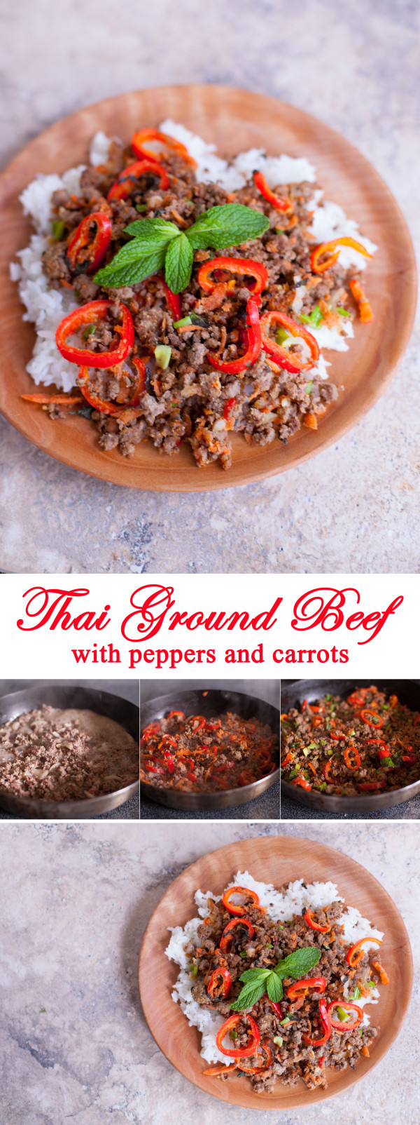 Easy Thai Ground Beef Recipe with Peppers and Carrots - EatingRichly.com