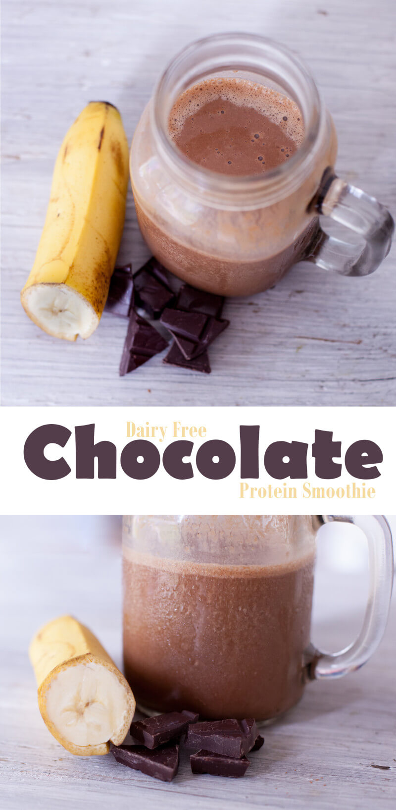 Dairy free chocolate milkshake is great for a breastfeeding mama snack!