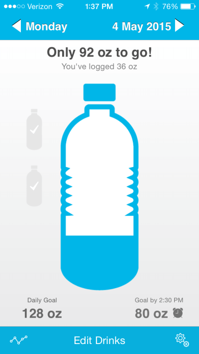 Waterlogged app to help you drink more water