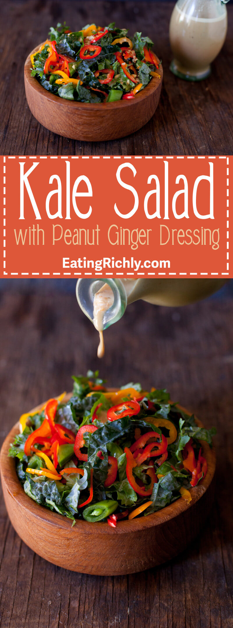 Healthy Asian kale salad recipe that's vegan, gluten free, and so easy to make.