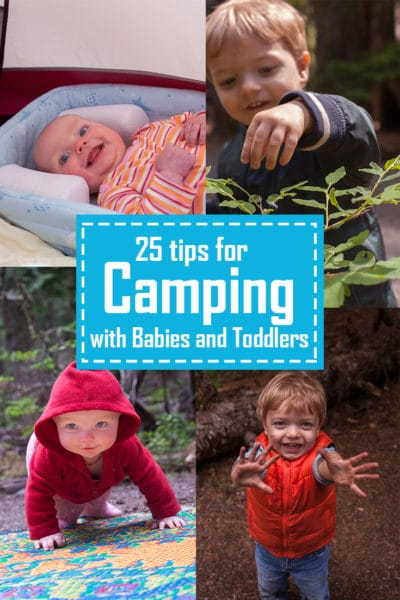 Liked our traveling and pumping guide? Here's 25 tips for camping with toddlers and babies. #19 will save your sanity, and your marriage! From EatingRichly.com