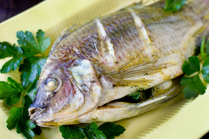 Baked Whole Tilapia