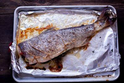 Roasted Whole Salmon