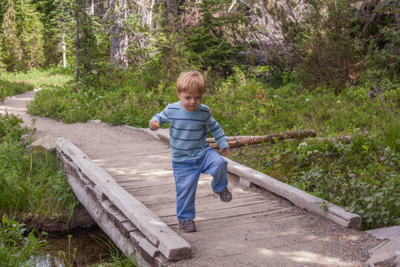 25 tips for camping with toddlers and babies - stomping on bridges