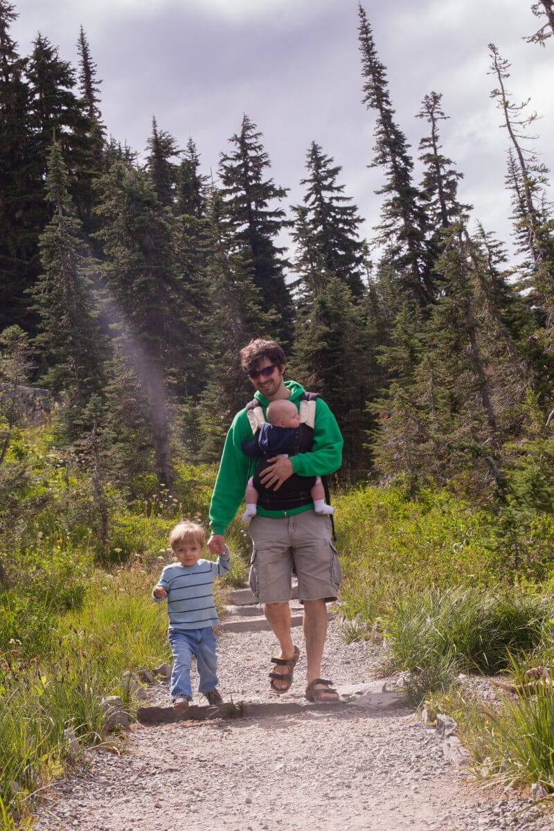 25 tips for camping with toddlers and babies - hiking