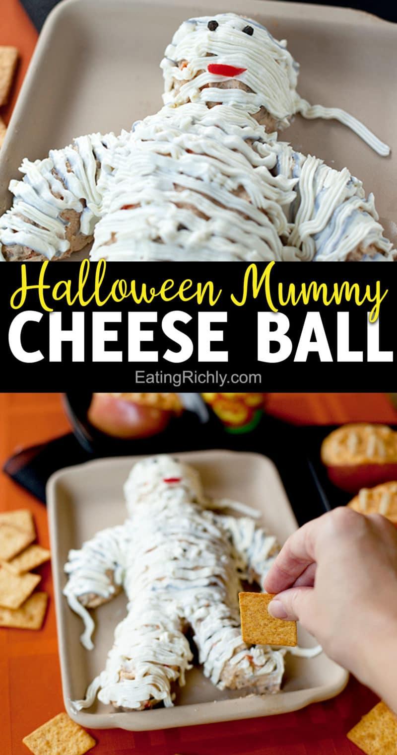 Cheese Ball Mummy Pinterest Pin