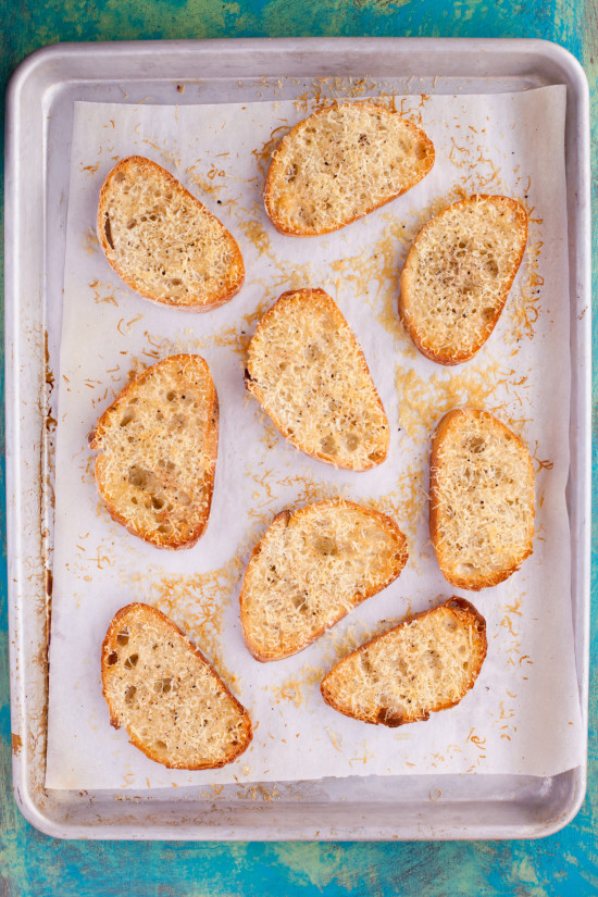 This 10 minute Parmesan cheese bread makes a crunchy savory toast that's the perfect easy side for soup or salad. Bet you can't eat just one piece! From EatingRichly.com