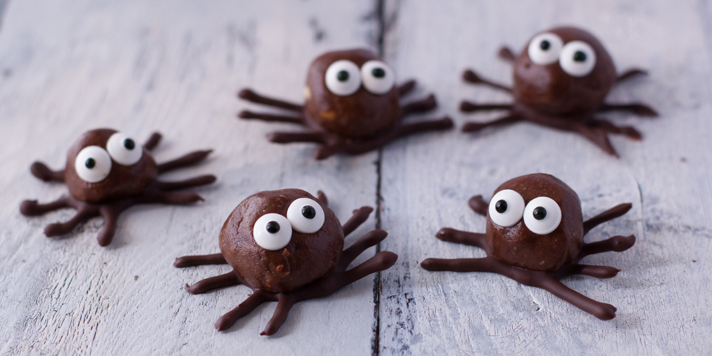 Chocolate Peanut Butter Protein Ball Spiders Recipe