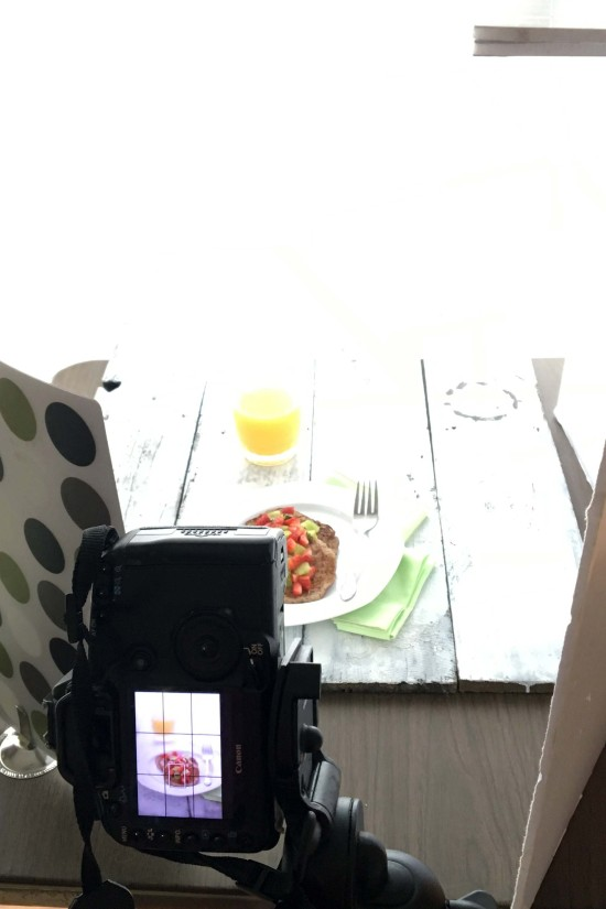 Food styling and food photographer tips on lighting and placing silverware. From EatingRichly.com