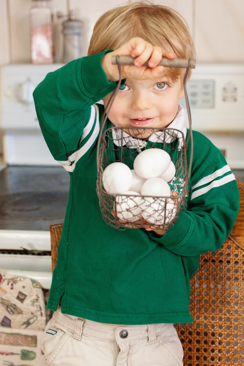 Watch a two year old teach you how to scramble eggs perfectly, with step by step photos and video. You'll learn how to scramble eggs like a pro! Part of #MiniChefMondays on EatingRichly.com