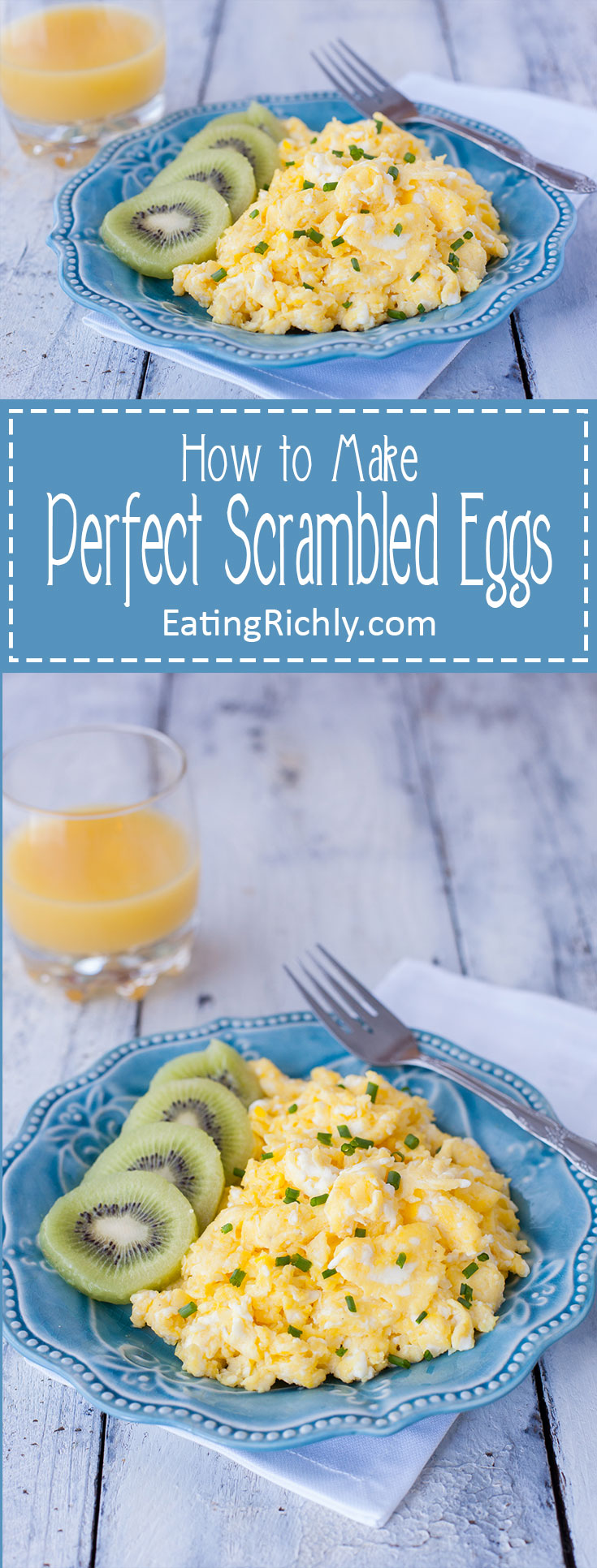 Watch a two year old teach you how to scramble eggs perfectly, with step by step photos and video. You 'll learn how to scramble eggs like a pro! Part of #MiniChefMondays on EatingRichly.com