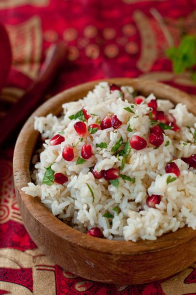 Cinnamon Infused Pomegranate Saffron Rice Recipe